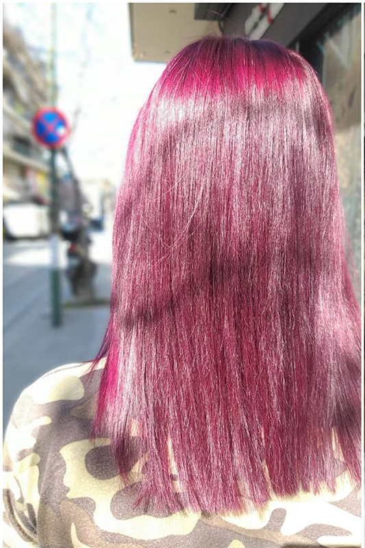 pink hair Touch Hair Salloon