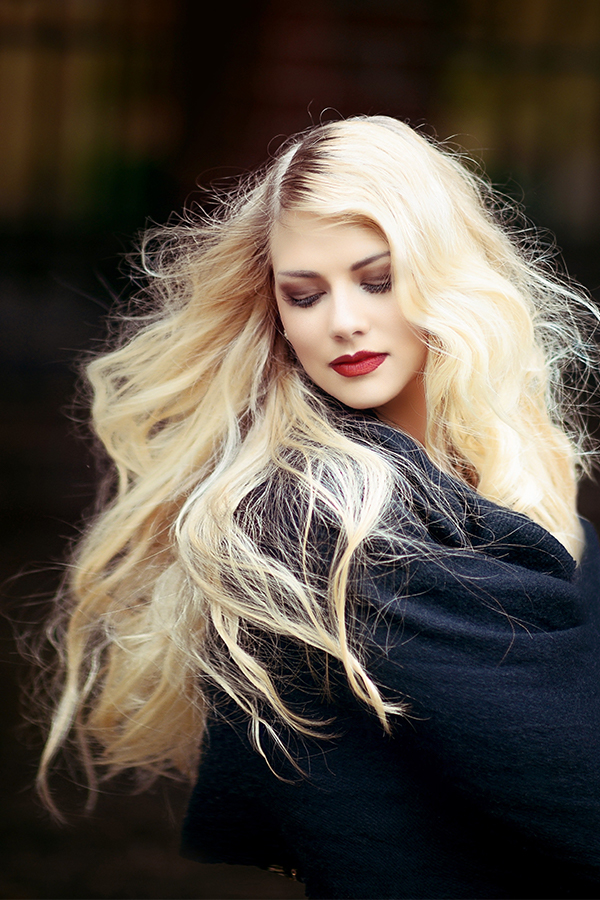 Beautiful blonde at Touch Hair Salloon