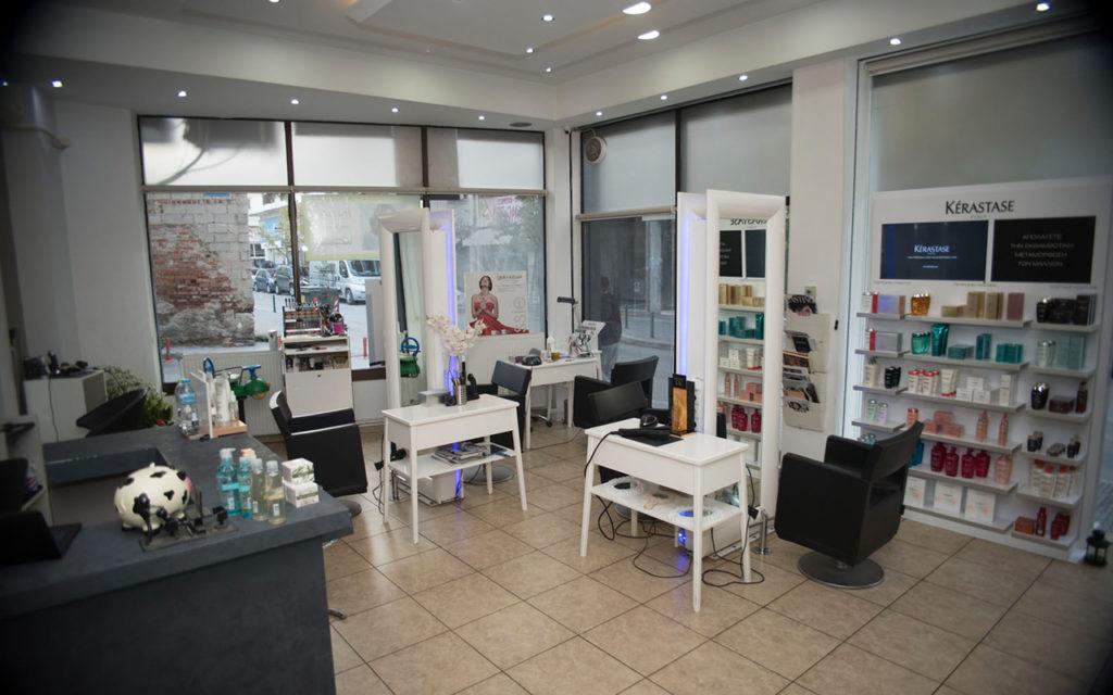 Χώρος του κομμωτηρίου Touch Hair Salloon στην Ολύμπου 22 Λάρισα
